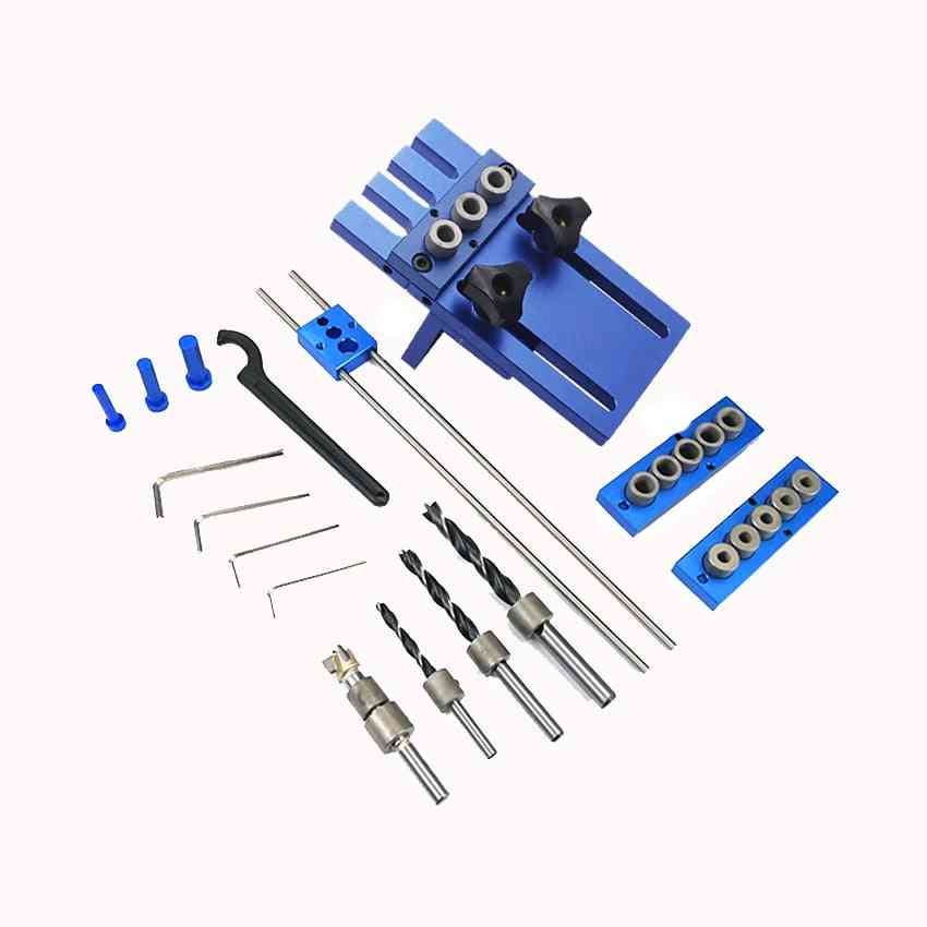 Woodworking Tool 3 In 1 Drilling Locator Drilling Guide Kit