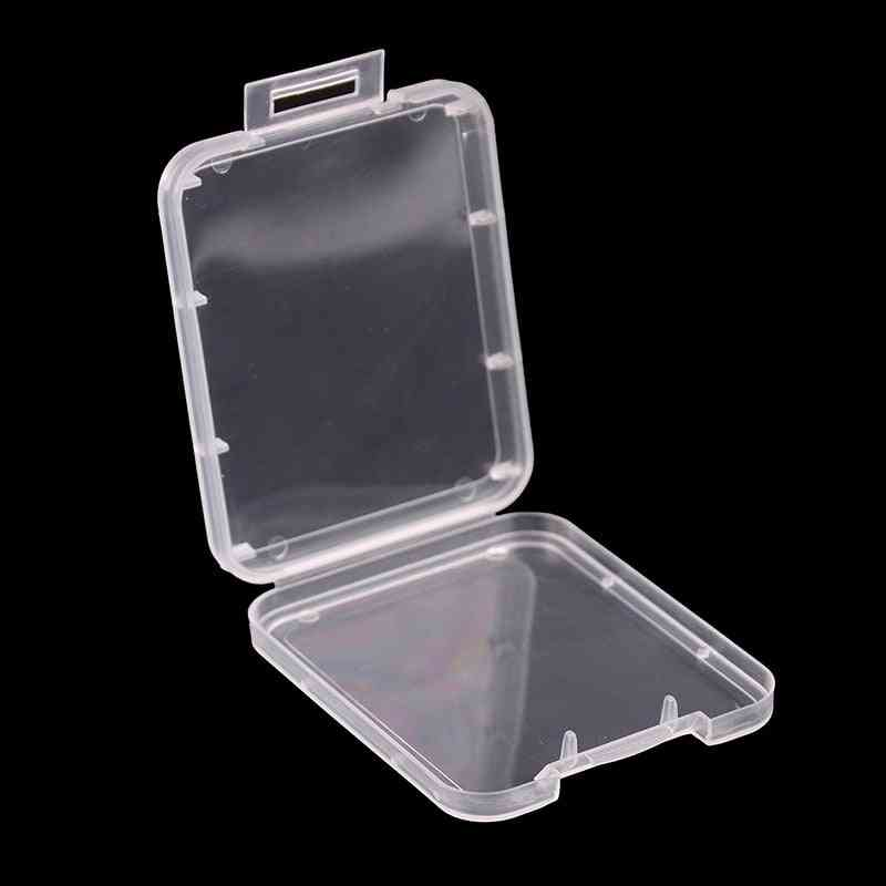 Memory Card Case Box Protective Case For Sd Sdhc Mmc Xd Cf Card White Transparent