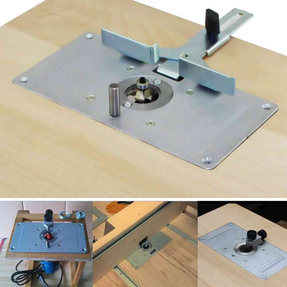 Meterk Alloy Router Table Insert Plate Guide Table For Carpentry Benches Router Saw Wood