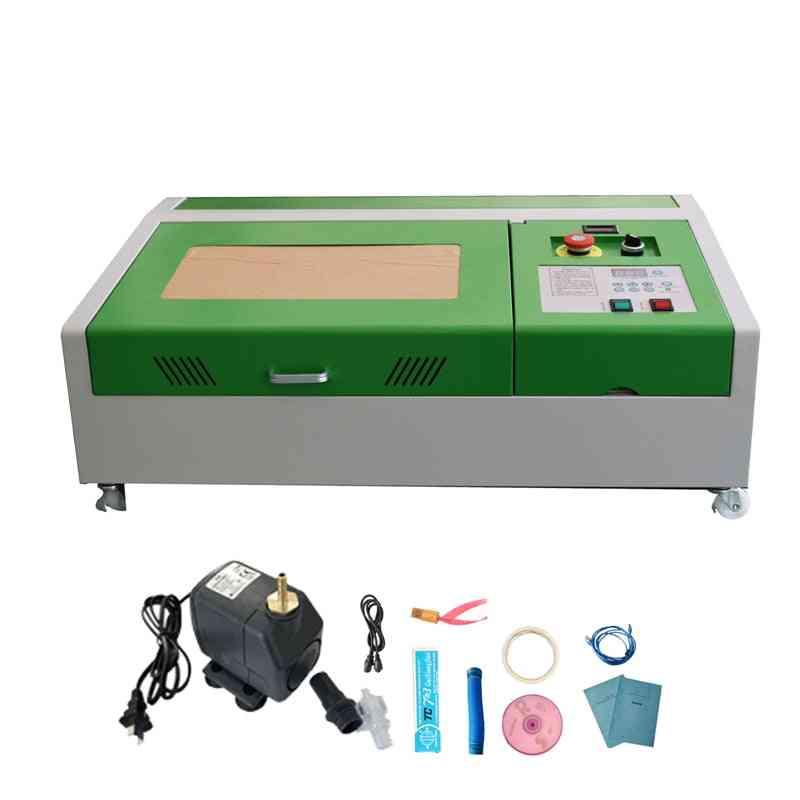 40w Co2 Laser Engraver Cutter Engraving Cutting Machine Usb 300x200mm + 4 Wheels
