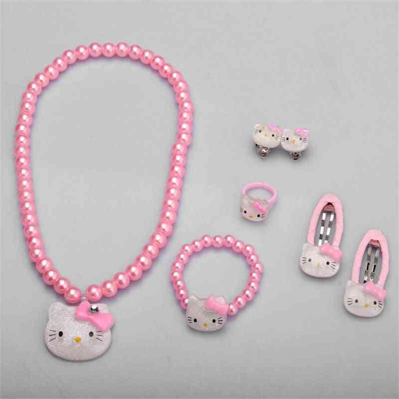 Children Hair Accessories Set, Jewelry Accessories - Necklace Bracelet