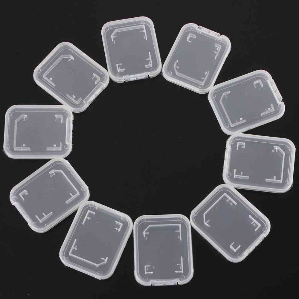 Transparent Memory Card Case Sd Sdhc Holder Plastic Storage Box For Standard Sd Card