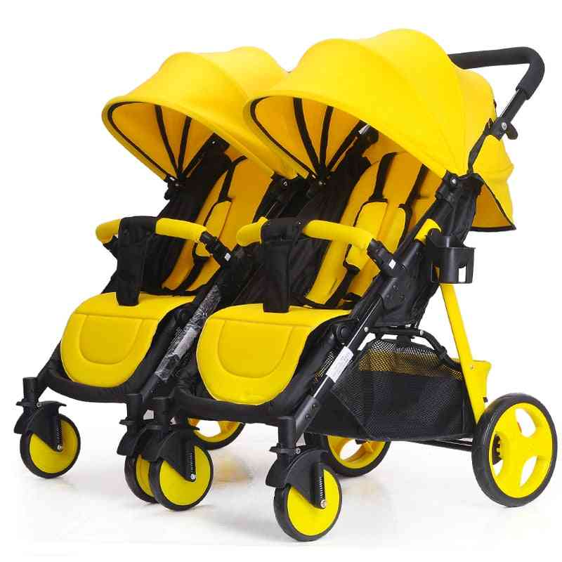 Baby Cart Can Be Divided Double, Twins Baby 2 In 1 Umbrella Multiple Stroller