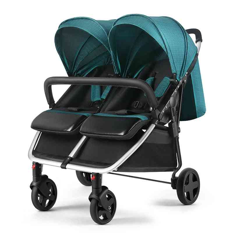 Twin Baby Stroller High Landscape Multi-child Light Folding Double Can Sit/lie Stroller