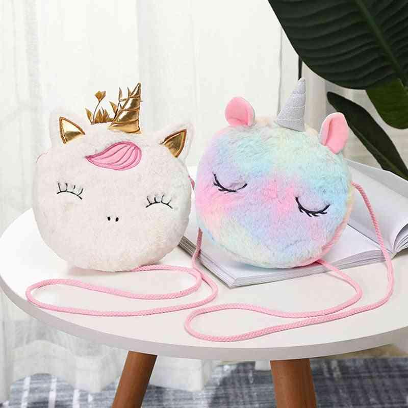 Cute Unicorn Animals Messenger, Shoulder Bag, Coin Purse For