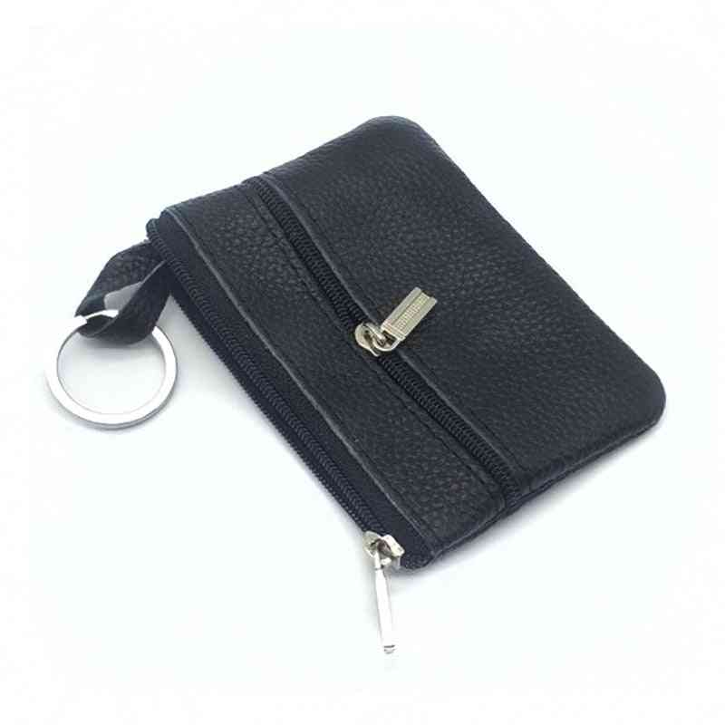 Casual Women Housekeeper For Home Fashion Leather Key Wallet Slim Coin Pouch Case, Keyring Organizer