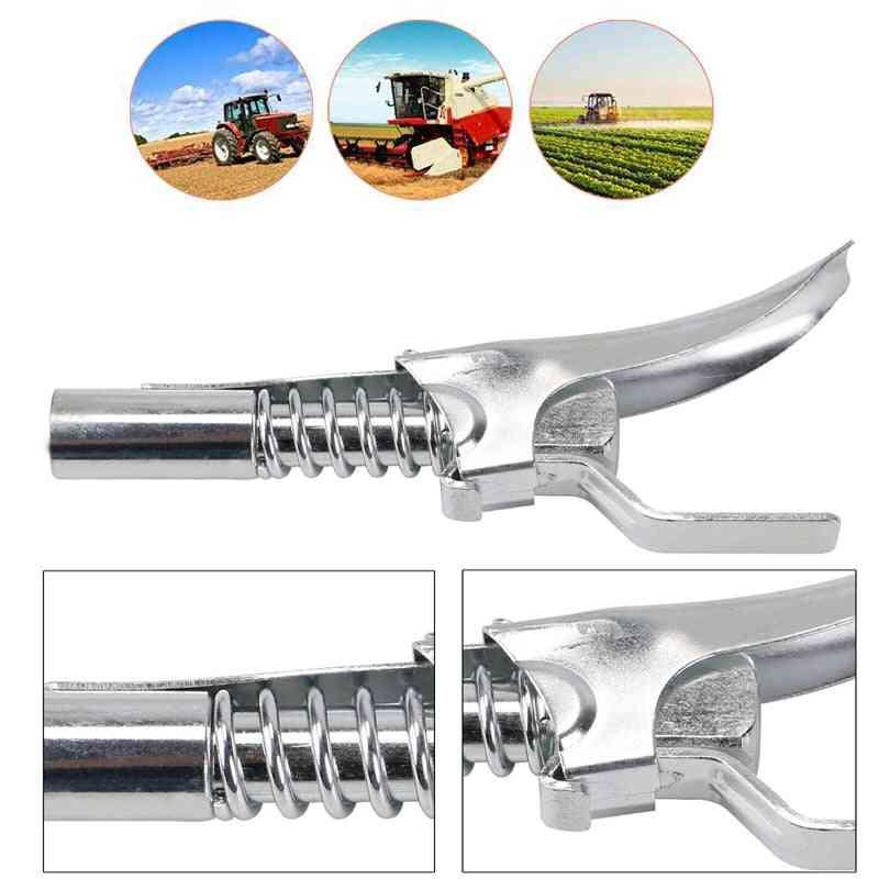 Grease Gun Coupler Quick Release Lock On Coupling End Npt Workshop Farm High Pressure Nipple