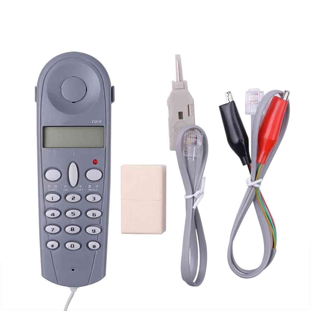 C019 Telephone / Phone Line Network Cable Tester With Connectors And Joiner