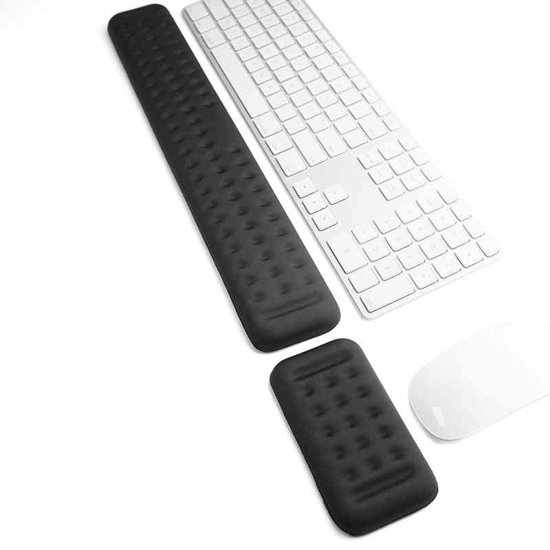 Keyboard And Mouse Wrist-rest Set, Gaming Memory Foam Ergonomic Hand Palm Rest