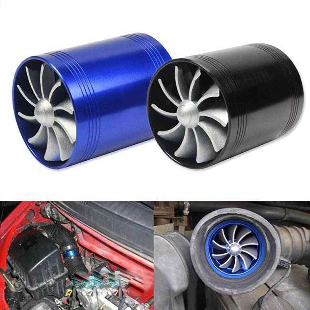 Car Turbocharger Turbo Compressor Fuel Saving Fan With Rubber Covers