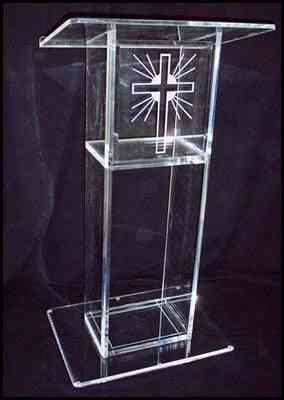 Fashionable Acrylic Pulpit Of The Church With Column, Acrylic Podium