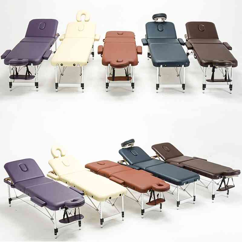 Spa Beauty Salon Furniture Esthetician Folding Facial Lash Bed Metal Portable Massage Table Tattoo Massage Bed With Stool Bag