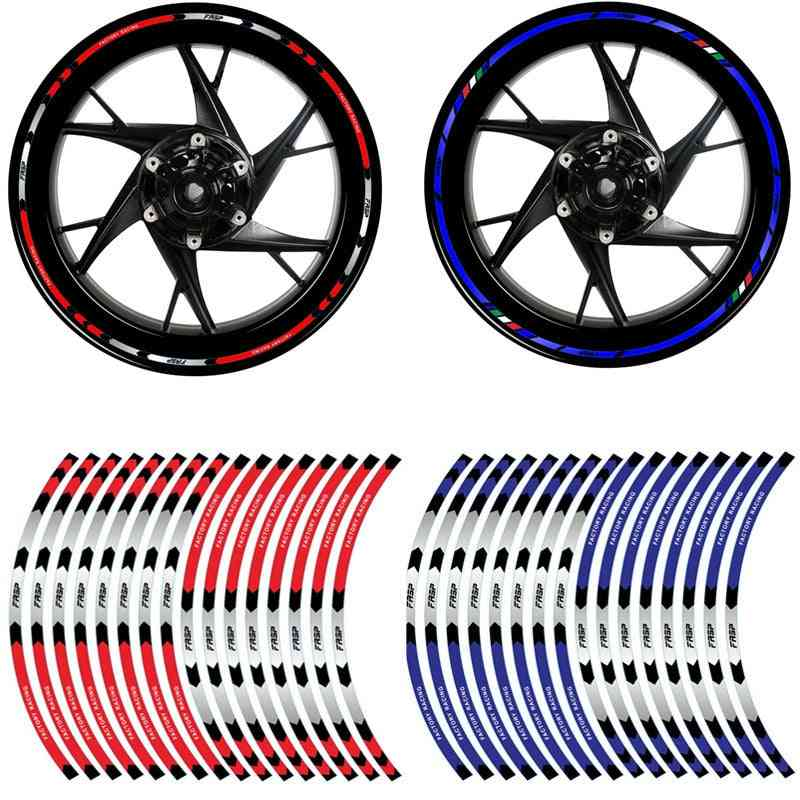 Strips Motorcycle Wheel Tire Stickers, Car Reflective Rim Tape, Motorbike, Bicycle Auto Decals