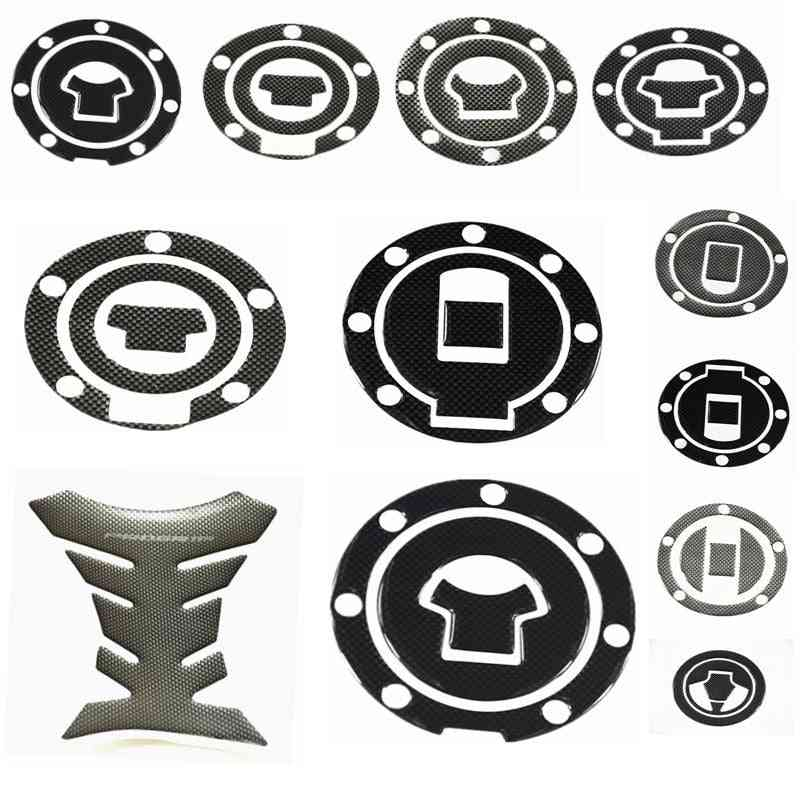 Carbon Fiber Fuel Gas Oil Cap Tank Pad, Protector Sticker For Motorcycle
