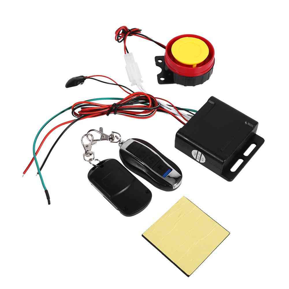 Motorcycle Bike Smart Alarm, Remote Control Anti-theft Security System
