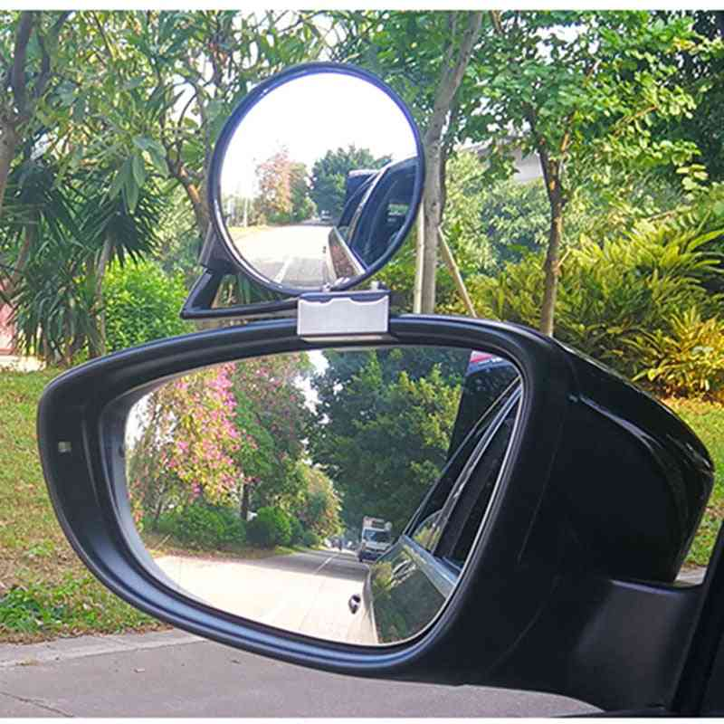 Car Left Right Front Wheel Blind Zone Mirror