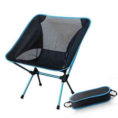 Portable Gray Moon Chair Fishing Camping Chairs Folding Extended Hiking Seat