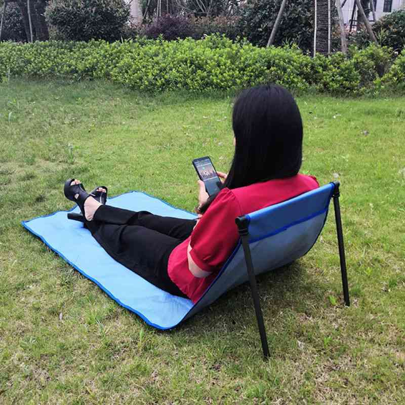 Portable Outdoor Sun Loungers Folding Traveling Adjustable, Bed Lounge Sleep Chair