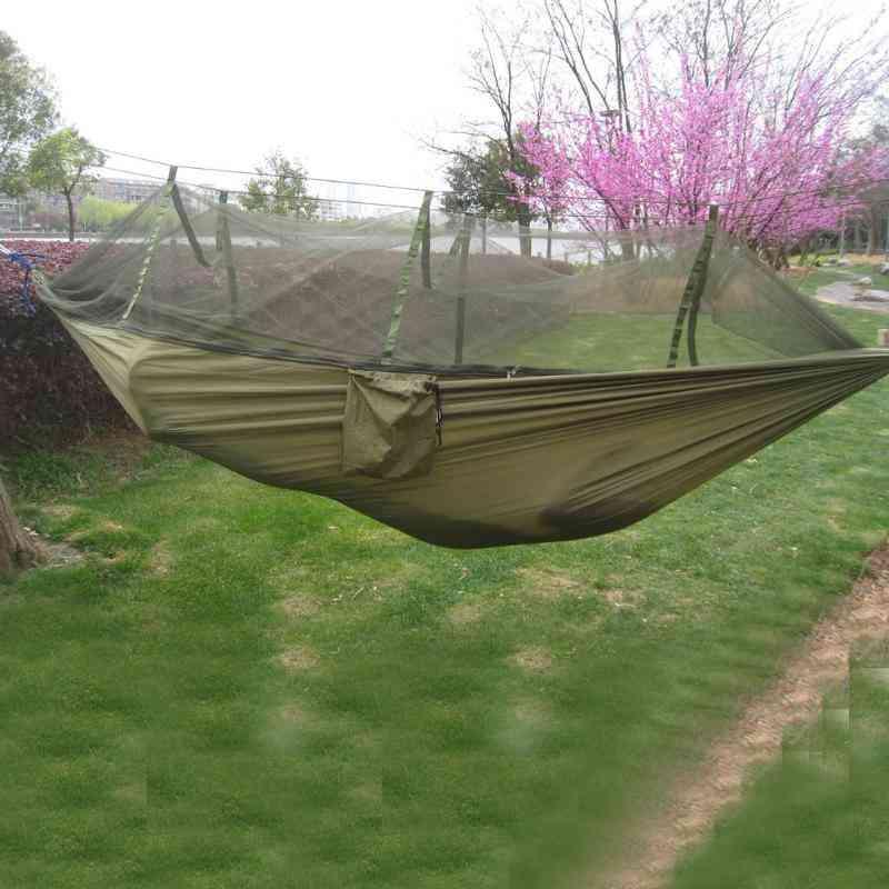 Portable Mosquito Net, Outdoor Garden Travel Swing Parachute Fabric Hang Bed