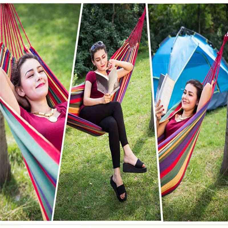 Rainbow Outdoor Leisure Portable Canvas Hammocks