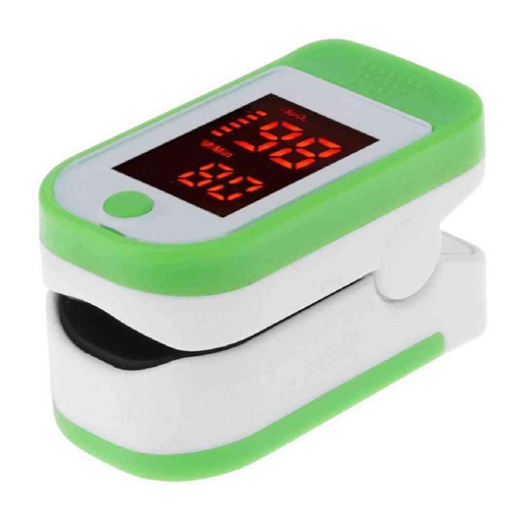 Durable Plastic Adult Finger Clip Blood Oxygen Saturation Tester, Pulse Meter