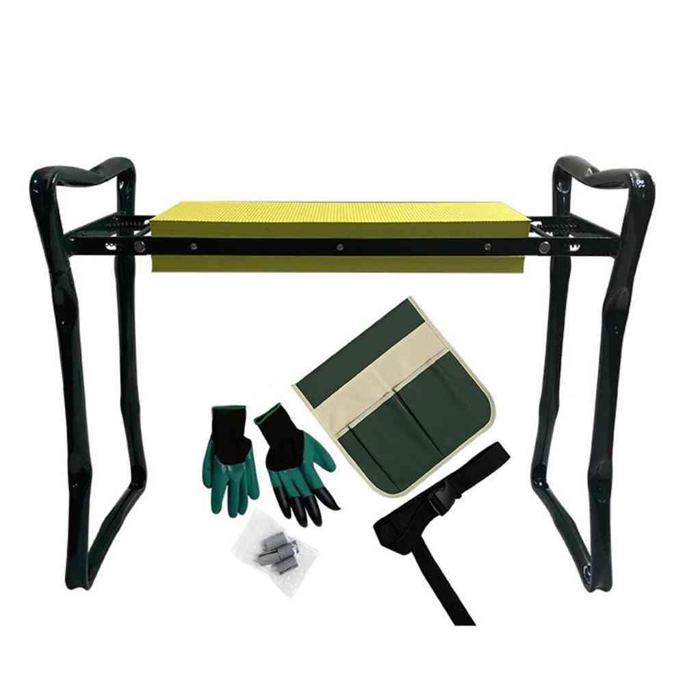 Folding Garden Kneeler Seat With Handles Stainless Steel Stool