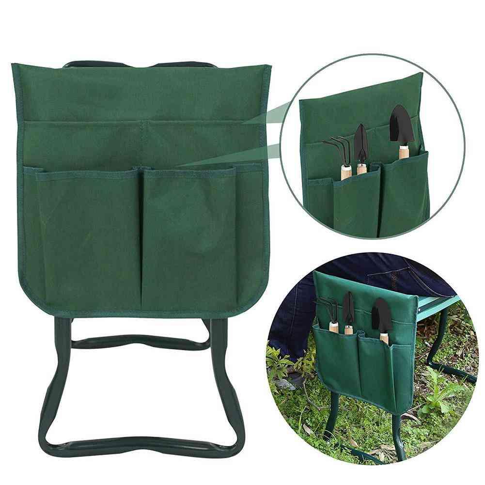 Pad With Small Cloth Bag, Garden Folding Stool Belt Tool Bags