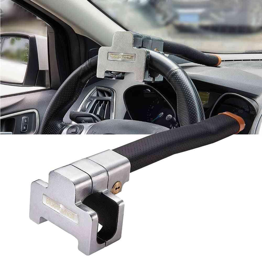 Car Top Mount Steering Wheel Lock, Anti-theft Security Locks With Keys