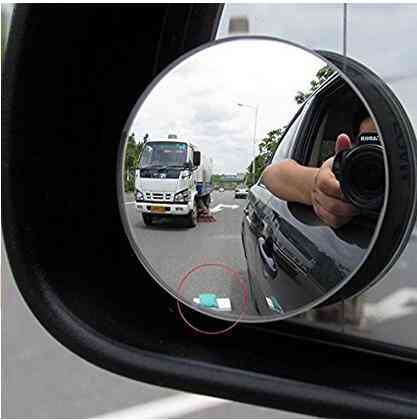 Car Rearview Mirrors Universal Blind Spot Wide Angle / Round For Safety