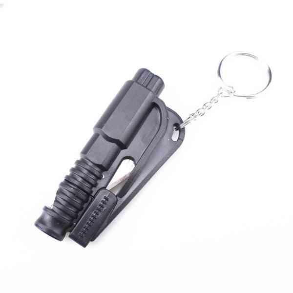 Emergency Rescue Means Glass Window Breach Infant Safety Hammers With Keychain Belt Cutter