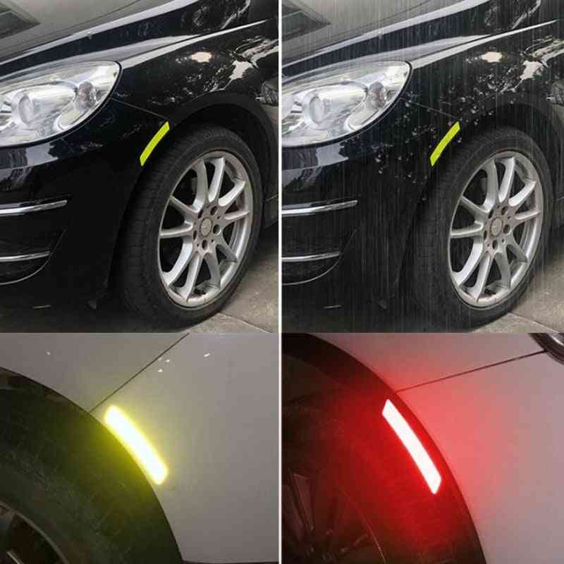 Car Wheel Rim Eyebrow Reflective Warning Strip Stickers