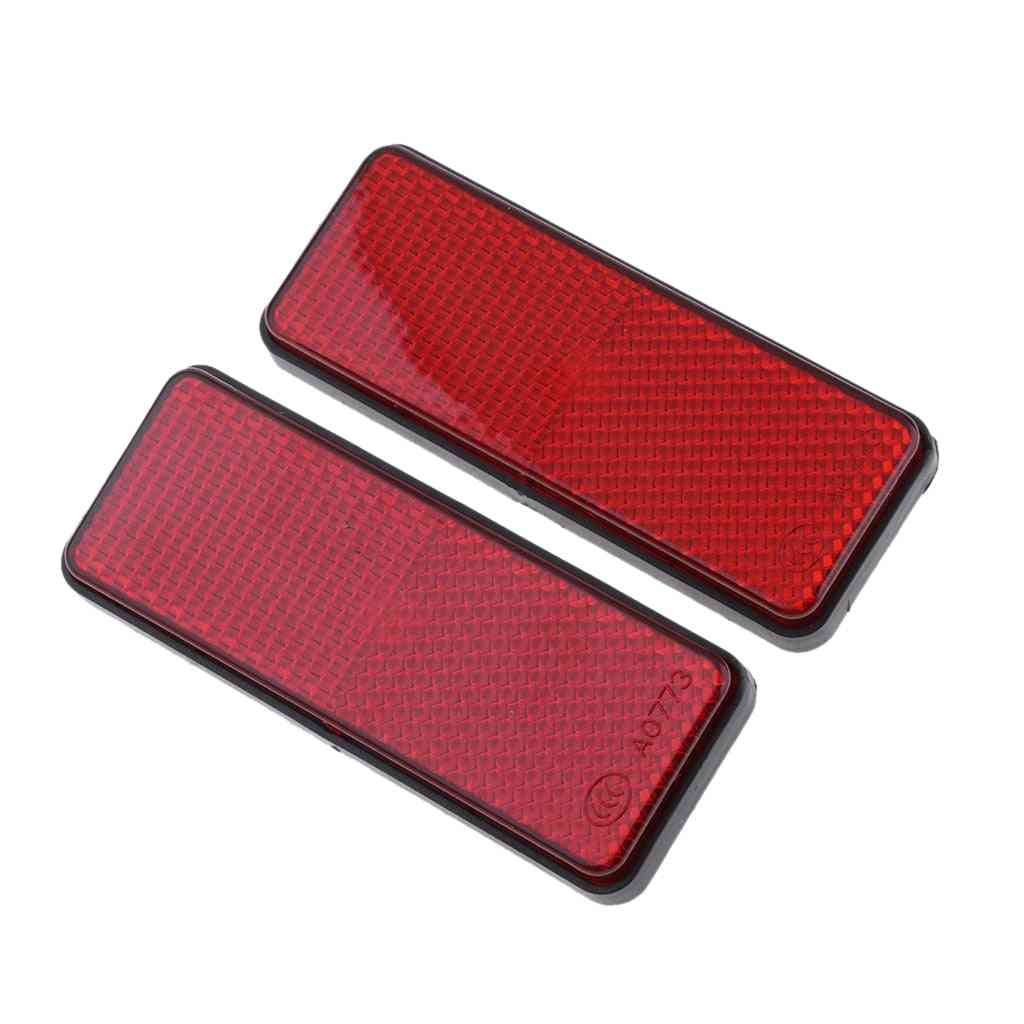 Universal Motorcycle Scooter Rectangle Reflectors Exterior Accessories