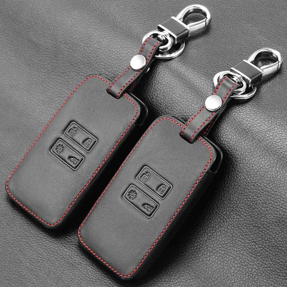 Genuine Leather Cover Case For Car Key