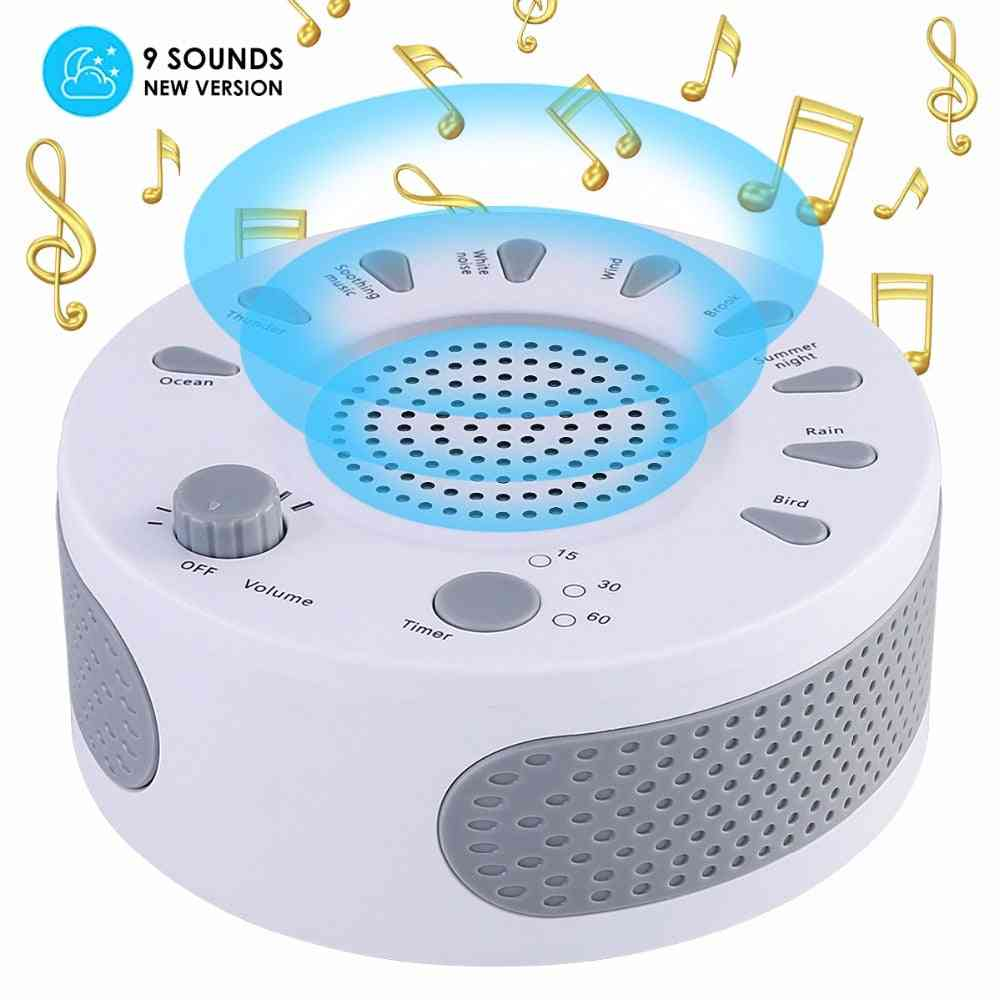White Machine Light Sleep, Therapy Regulator With 9-plant Soothing Sound Device