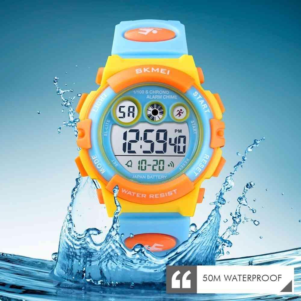 Children Sport Watch, Waterproof, Digital Led