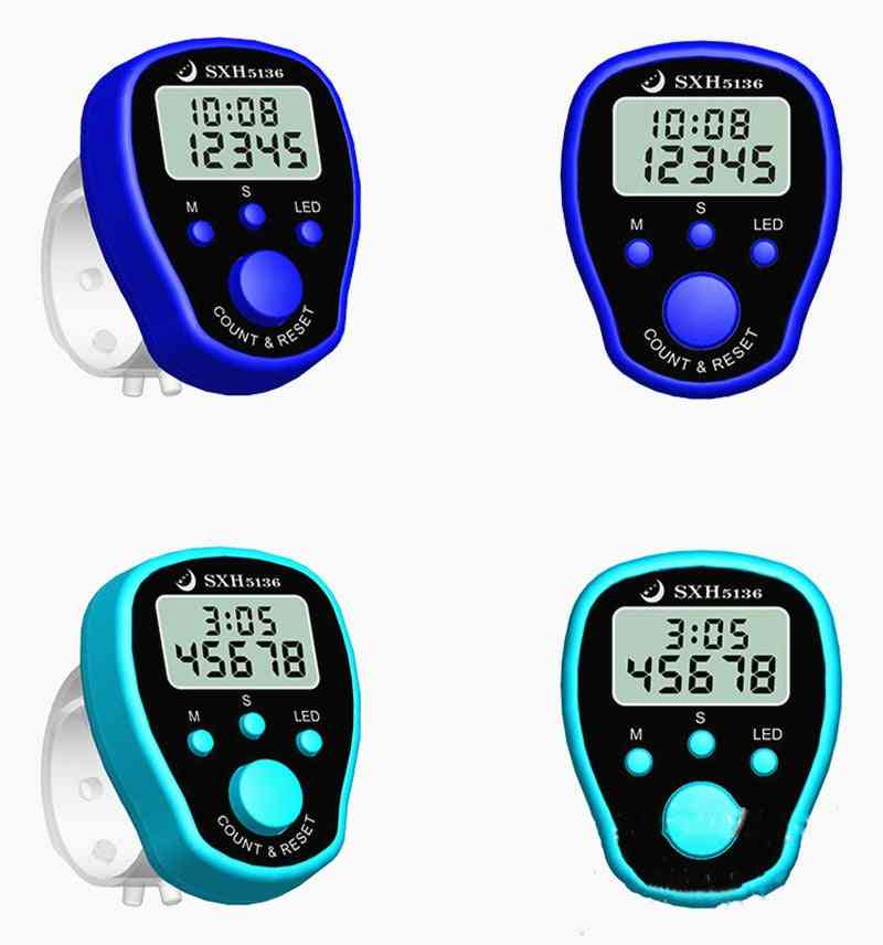 Row Hand Tally Finger Counter-lcd Electric Digital Display With Light