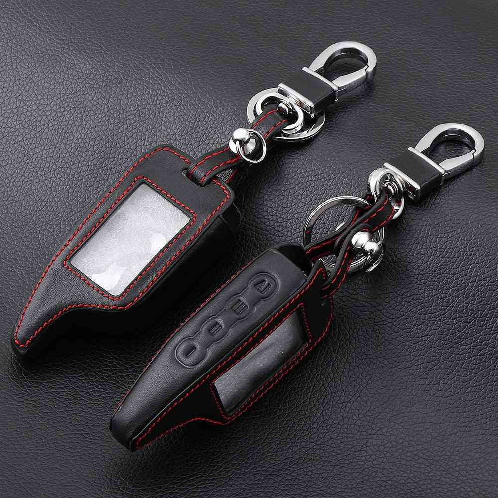 Leather Alarm Remote Keychain Case, Cover Holder