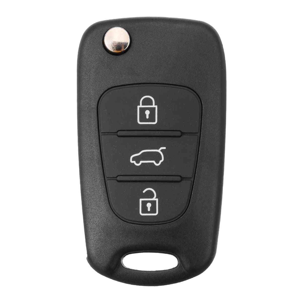 Button Car Key Cover Case, Remote Fob Shell Accessories
