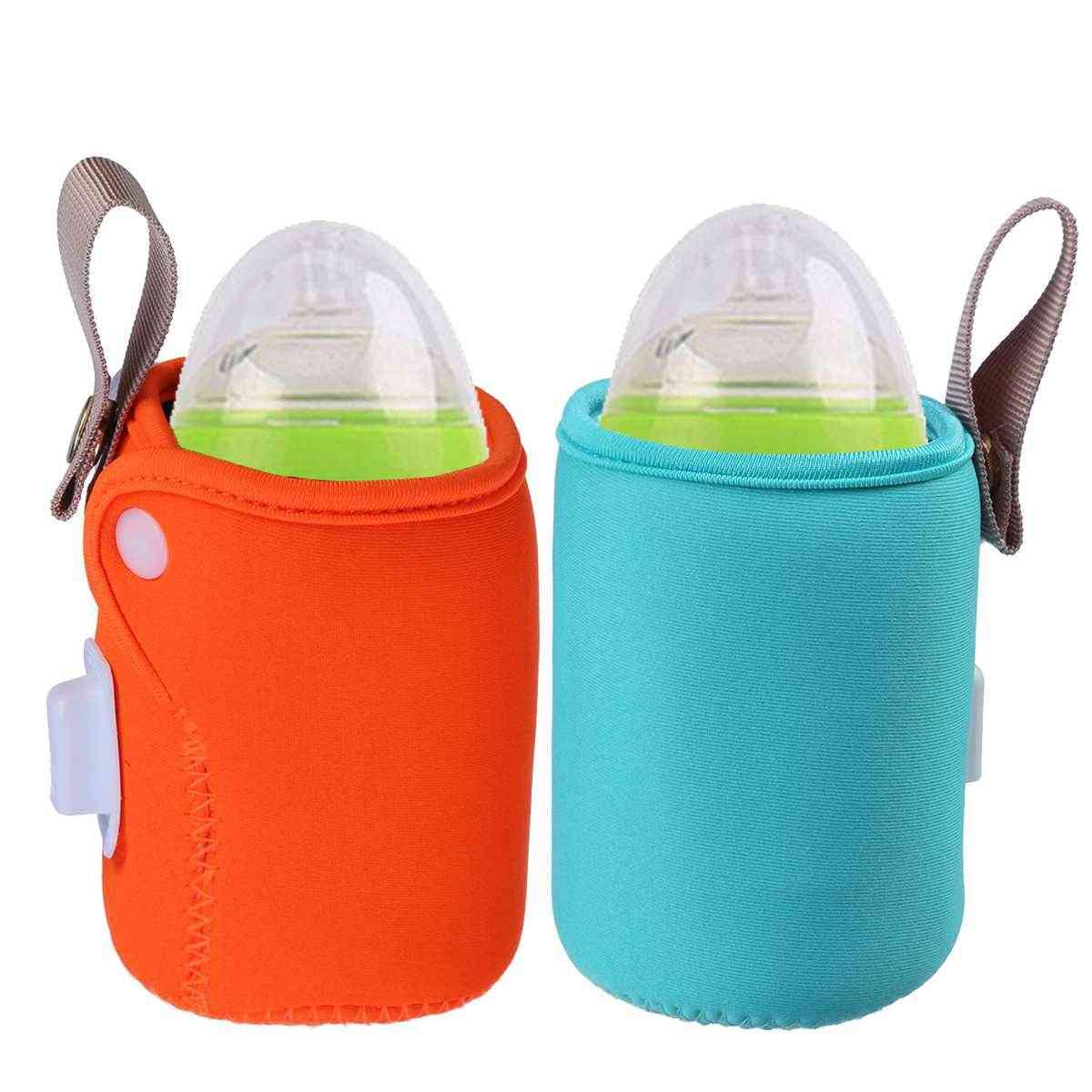 Usb Milk Warmer, Portable Travel Cup, Nursing Bottle Cover, Warmer Heater Bag