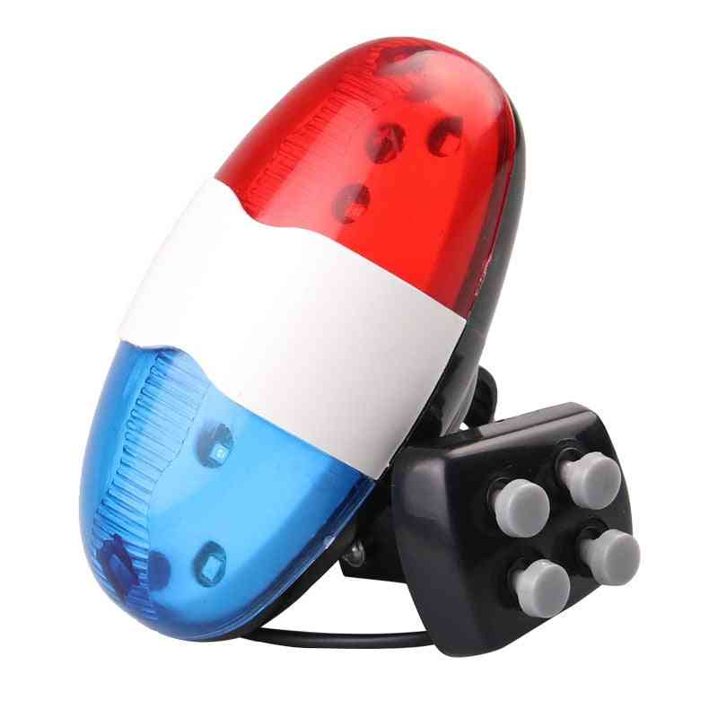 Bicycle Bell 6 Led 4 Tone Bicycle Horn Bike Call Led Motorcycle Police Light