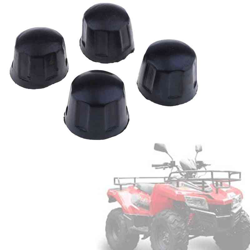 4pcs Rubber Atv Dust Cover Nuts For 50cc/70cc/110cc/125cc Quad Bike Go Kart Atv Accessories