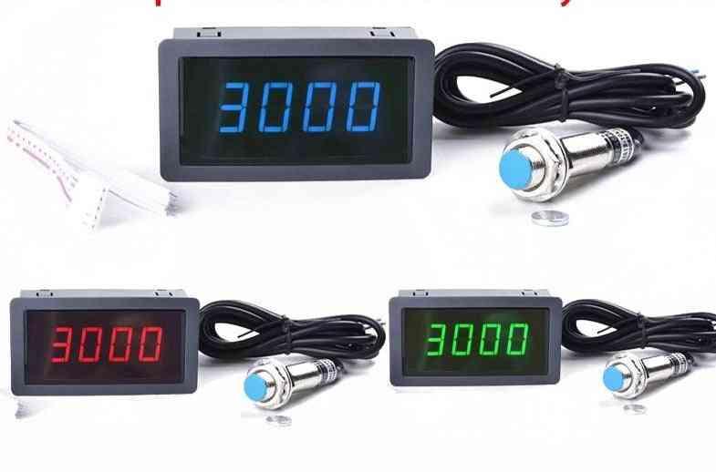 Led Tachometer Rpm Speed Meter+hall Switch Proximity Switch Sensor Measure Range