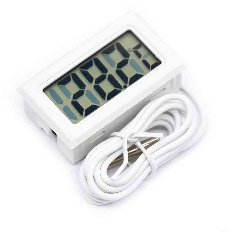 Lcd Digital Thermometer For Freezer Temperature Indoor / Outdoor Probe
