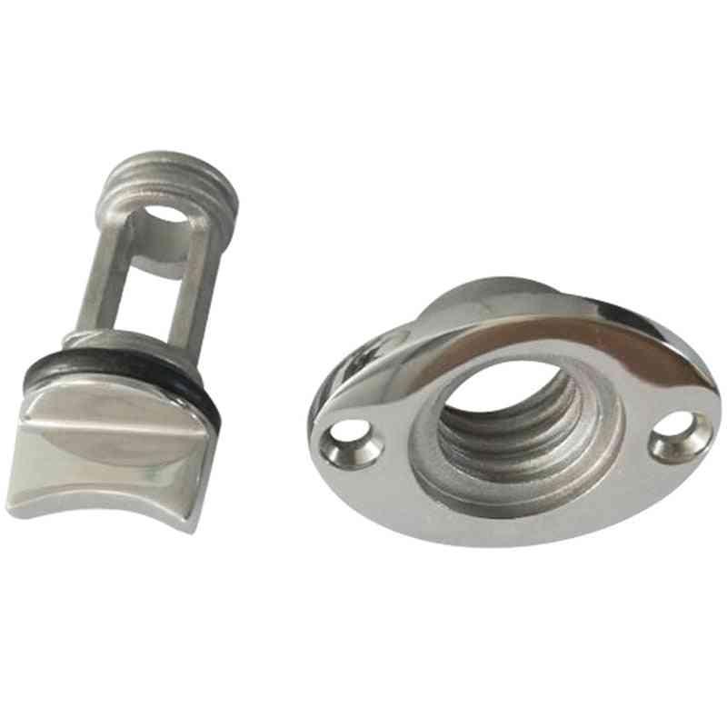Marine Boat Surface Polishing Oval Garboard Drain Plug, 316 Stainless Steel