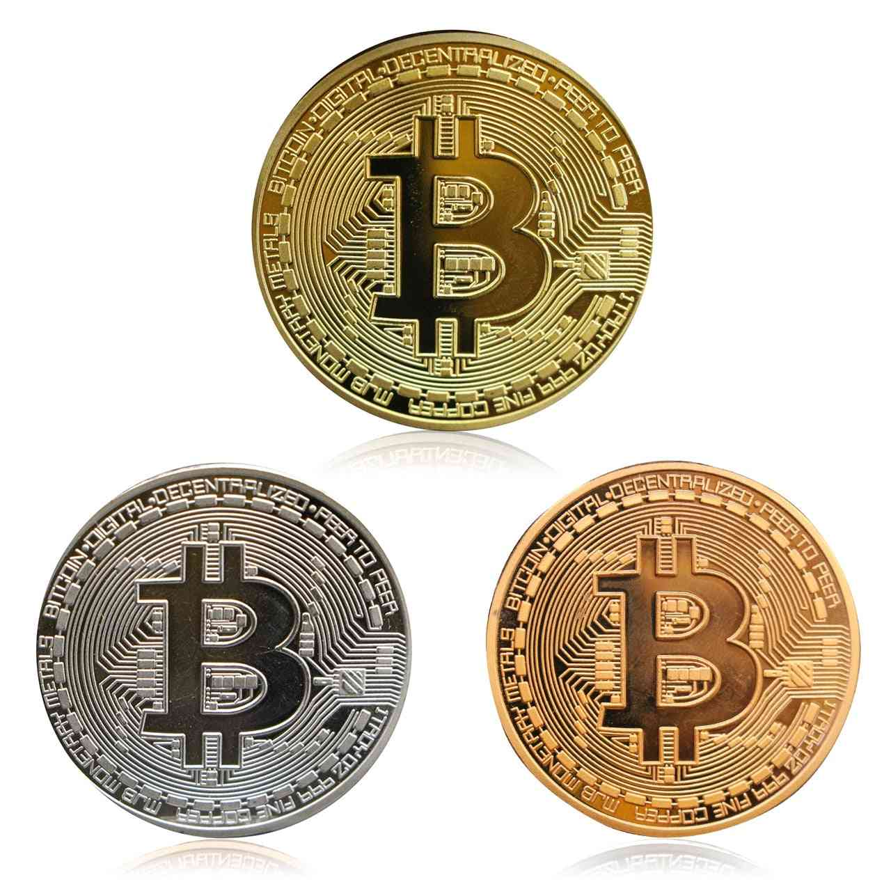 Bitcoins Physical Metal Fictitious Currency- Commemorative Medal