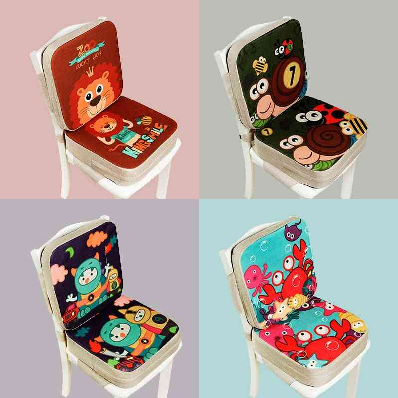 Portable Chair Pad, Adjustable Furnitur, Booster Seat For Dining Cushion, Pram Chairpad, Removable