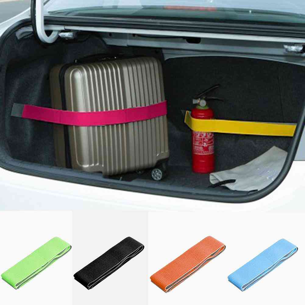 Car Trunk Storage Device Hook And Loop Strong Fixed Straps Anti-drop Magic Stickers