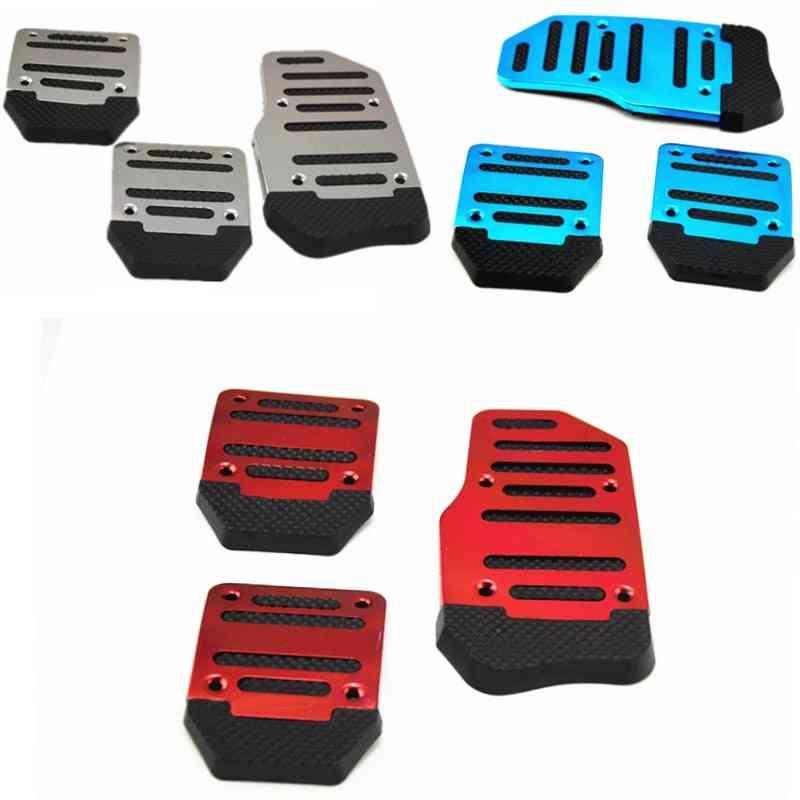Universal Aluminum Manual Transmission Non-slip Car Pedal Cover Set