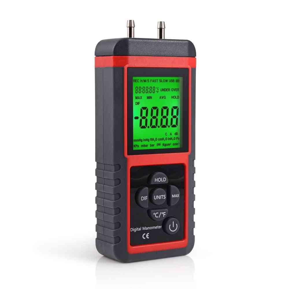 Professional Manometer-digital Pressure Sensor Instrument With Lcd Display