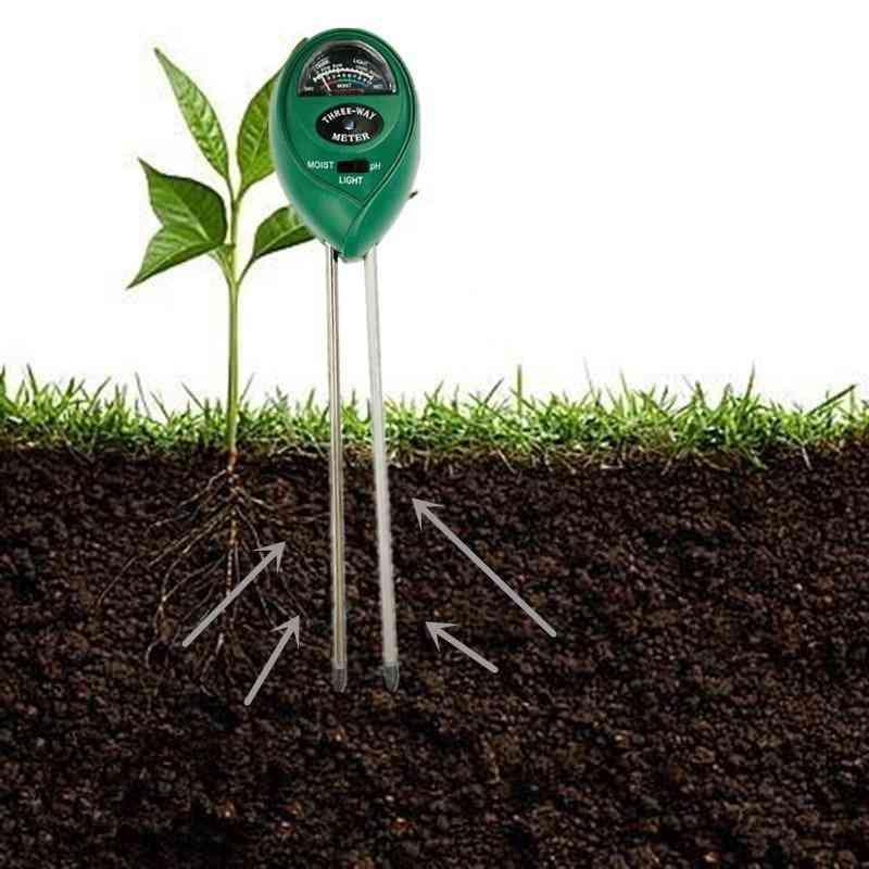 Soil Ph Meter Soil Tester Ph Moisture Meter-temperature Sunlight Intensity Measurement